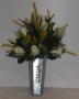 flor artificial para bucaro de metal estrecho