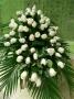 centro de rosas blanco