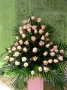 centro de rosas rosas